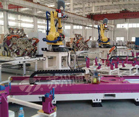 Pink Welding Industry Robot 7 Axis , High Precision Robot Linear Track