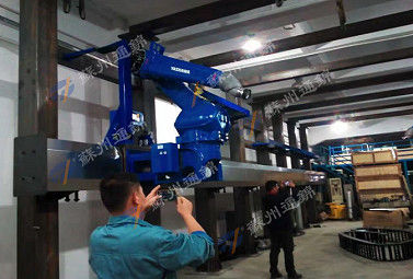 China High Precision Dustproof Robot Rail System For Flame Plating Max Stroke 70m distributor