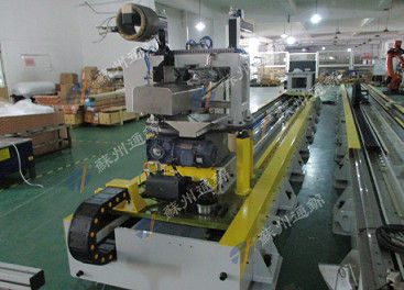 China High Safety Robot Rail System For Polishing And Grinding Axis Up To 70m distributor